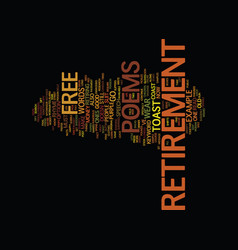 Free retirement poems text background word cloud vector