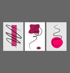 Geometric shape and scribble lines hand painted vector