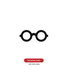 glasses icon isolated on white background modern vector image