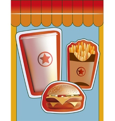 Grunge Cover for Fast Food Menu vector image