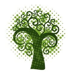 Grunge swirly tree vector image vector image