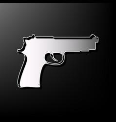 gun sign gray 3d printed vector image vector image