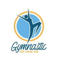Gymnastic sport logo with text space vector
