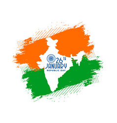 Happy republic day india with map background vector