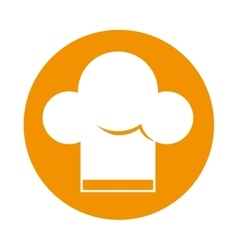 Hat chef silhouette isolated icon vector
