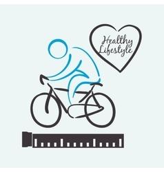 Healthy lifestyle design Bodybuilding vector