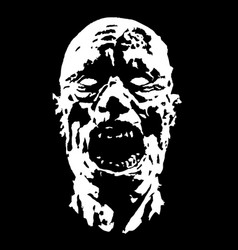 horror face vector image