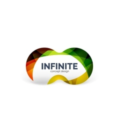 Infinity business logo concept vector image
