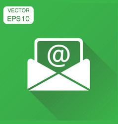 mail envelope icon business concept email vector image