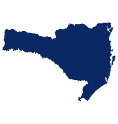 Map santa catarina in blue colour vector