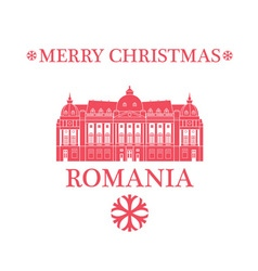 Merry Christmas Romania vector