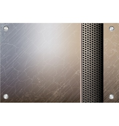 metallic steel background vector image