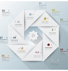 Modern Business Infographic Propeller Origami vector