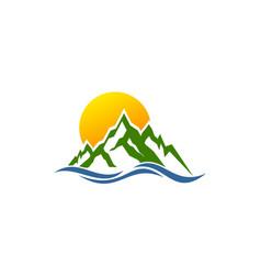 Mountain wave logo vector
