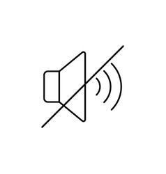 mute no sound outline icon signs and symbols can vector image