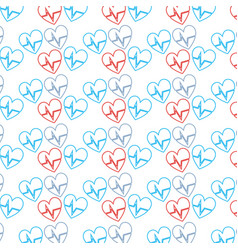 Nice heartbeat to cardiac rhythm background vector