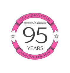 ninety five years anniversary celebration logo vector image