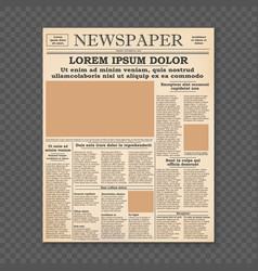 Old newspaper front page vector