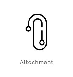 outline attachment icon isolated black simple vector image