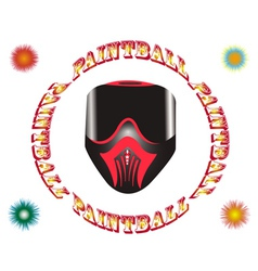 paintball mask vector image