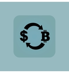 Pale blue dollar bitcoin icon vector image