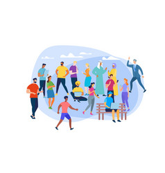 people different culture on white background vector image