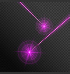 Pink laser beams vector