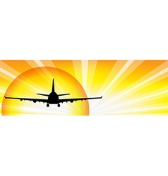 Plane And Sun vector image