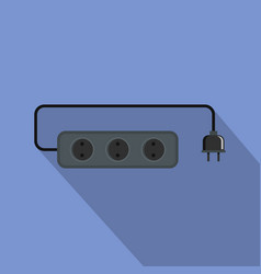 Power outlet icon flat style vector