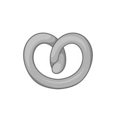 Pretzels icon black monochrome style vector