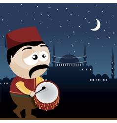 Ramadan drummer vector