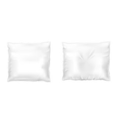 realistic set with square white pillows vector image