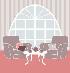 Retro living room vector