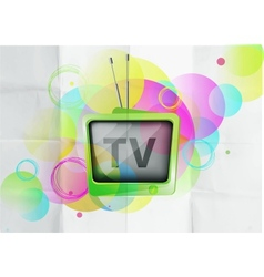 Retro TV background vector
