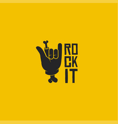 rock it logo rock sign logo vector image