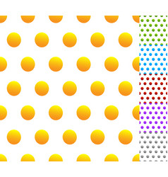 Set of seamless patterns in 6 colors dotted vector