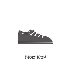 Shoes icon simple flat style vector
