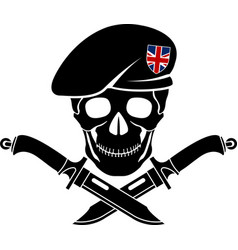 Sign special forces great britain vector