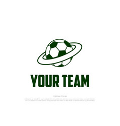 simple ball planet soccer football for sport club vector image