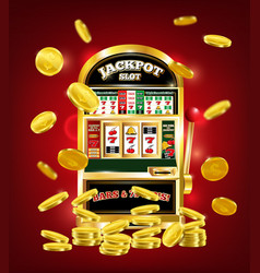 Slot machine poster vector