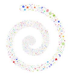 Space symbols fireworks spiral vector