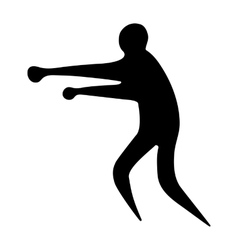 Sportsman man boxer on a white background vector image