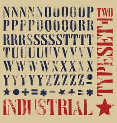 stencil grunge typeset vector image