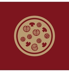 The pizza icon Fast food and baking symbol Flat vector