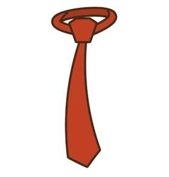 tie elegant isolated icon vector image