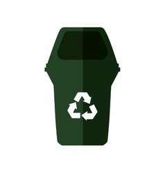 Trash recycle organic ecology icon graphic vector