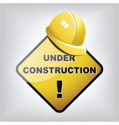 under construction site vector image vector image