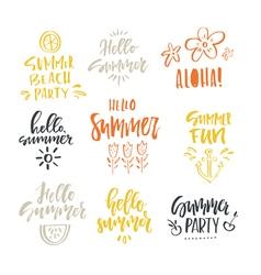 Unique Summer Lettering vector