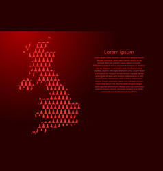 United kingdom map abstract schematic from red vector