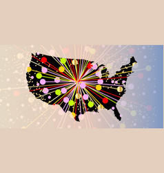 united states map new year vector image
